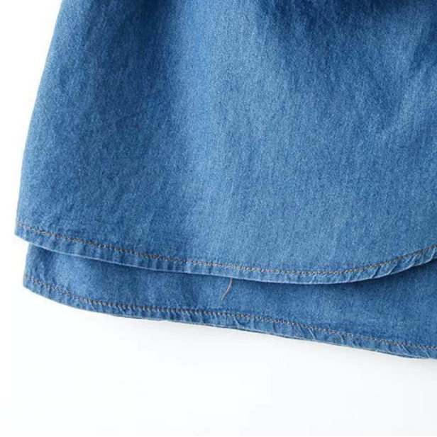 Wholesale Blue denim skirt west style bowknot candy special design ND-A1032 - Lovely Fashion