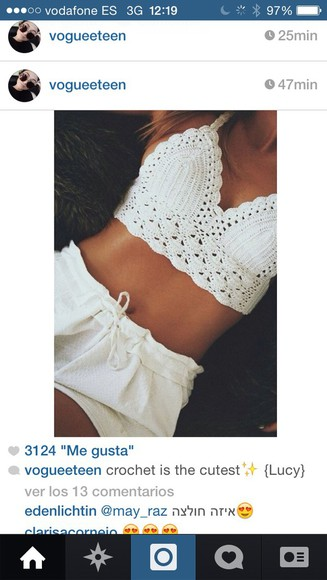 dentelle blanc crop tops top white, tank top, bea miller, crop top