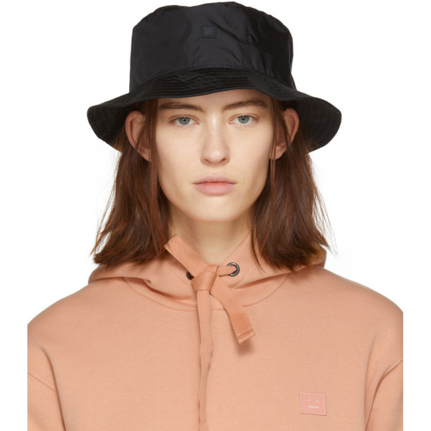 Acne Studios Black Buk Face Tech Bucket Hat