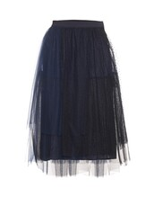 skirt,tulle skirt,midi skirt,black skirt