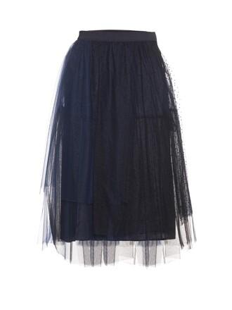 skirt tulle skirt midi skirt black skirt