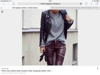 jeans biker leggings in bouredaux sweater na-kd fashion knit
