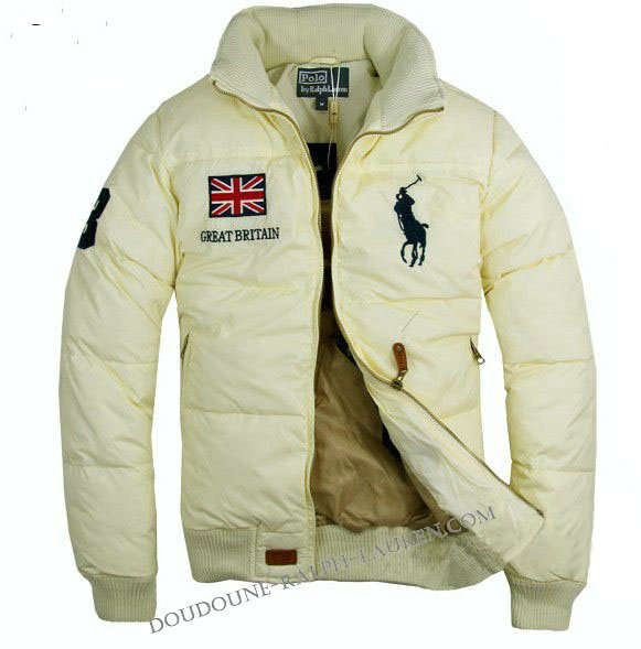 e3acd61d7ddb Doudoune Ralph Lauren Homme Flag Great Britain Big Pony Ivoire   a20110815024  - €179.00