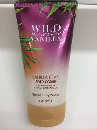 make-up vanilla vanilla bean body scrub body scrub beauty women bath cosmetics