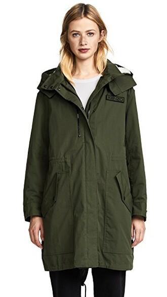 parka dark khaki coat