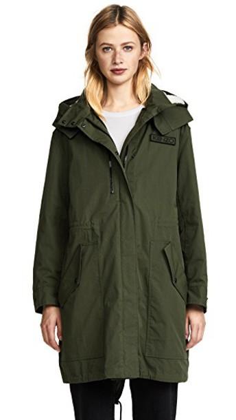 Kenzo parka dark khaki coat