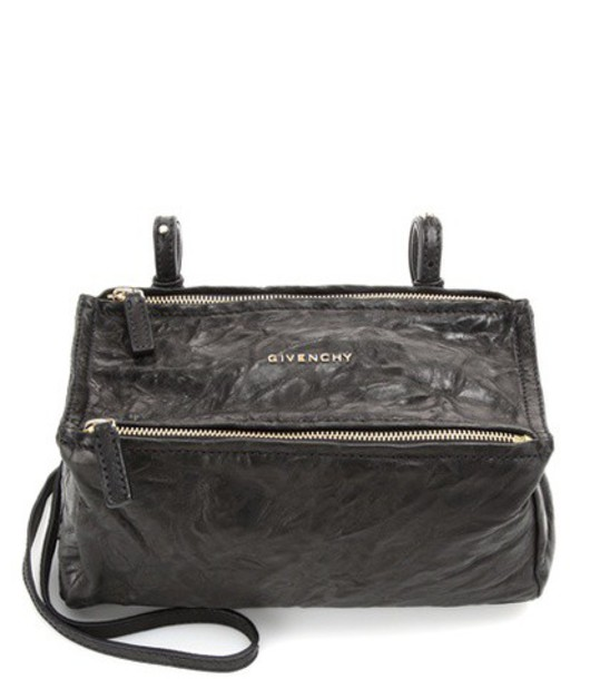 Givenchy Pandora Mini leather shoulder bag in black