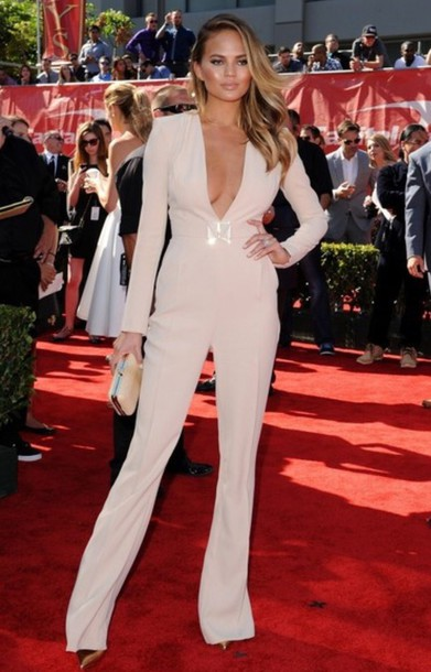 jumpsuit chrissy teigen fashion celebrity style model