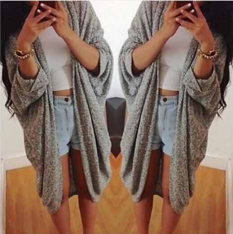 Fashion long-sleeved cardigan jacket