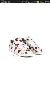 shoes,play,play shoes,converse,heart,red,white,sneakers,white sneakers,black oxfords,cut-out,cut-out oxfords