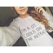 shirt,exactly like the picture,cute,sweater,internet,jumper,white