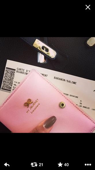 bag pink princess passport cover cute girl travel