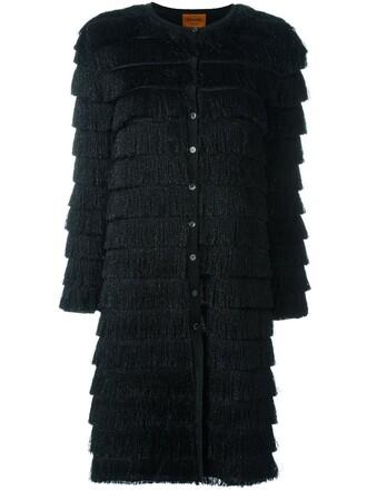 cardigan metallic black sweater
