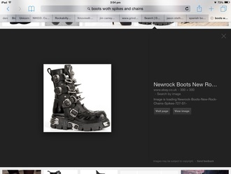 shoes spikes spike spiked black chunky boot leather