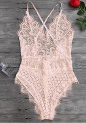 underwear,lace,girly,pink,one piece,lingerie,bodysuit