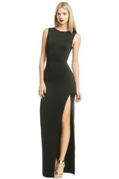 dress,black dress,formal,formal dress,slit,maxi dress