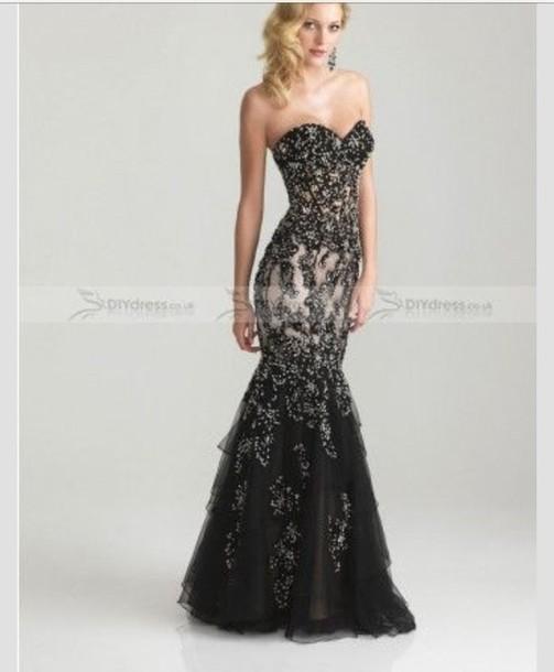 Dress Black Dress Sequin Dress Long Prom Dress Long Sequin Prom