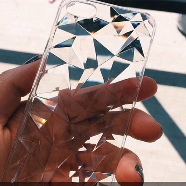 iphone case phone cover glass plastic illusion cool apple crystal clear phone cover diamonds