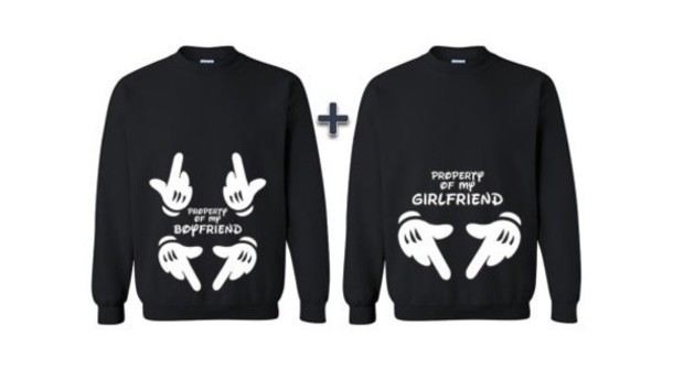 sweater relationship goals style cute top outfit tumblr outfit mickey mouse  hoodies black top