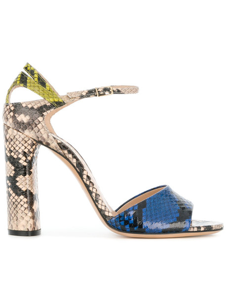 snake women king sandals leather blue shoes