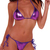 Sexy Purple Metallic Bikini Top G String Stripper | eBay