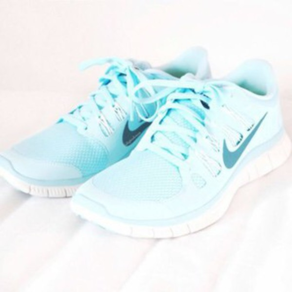 detailed look cce82 161f1 ... Nike Free 5.0 Womens Light Blue ...