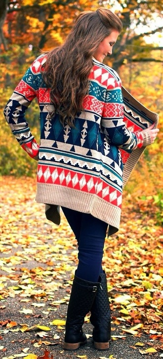 jacket sweater cardigan tribal pattern aztec tribal cardigan tribal print sweater