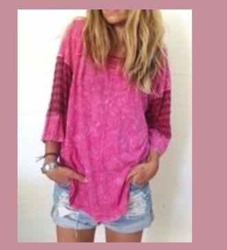 top pink shirt