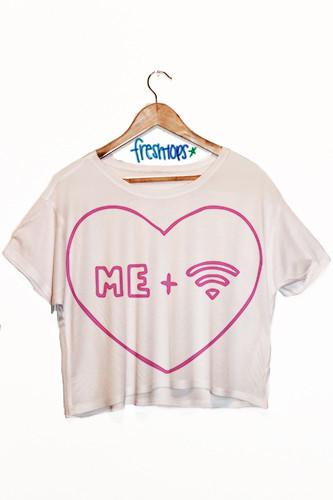 Me   Wifi Crop Shirt - Fresh-tops.com