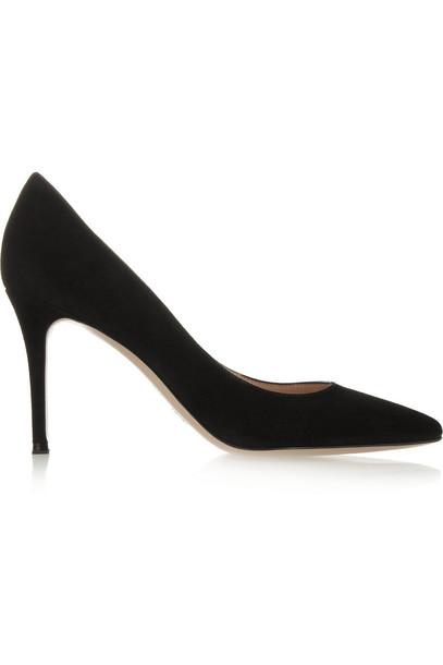 Gianvito Rossi suede pumps pumps suede black shoes