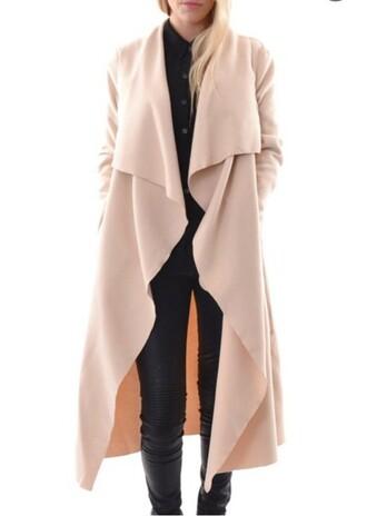 coat zaful beige black streetwear style elegant women fashion trendy classy thanksgiving
