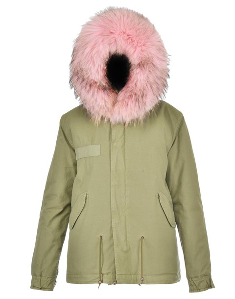 Mr & Mrs Italy parka cotton pink coat