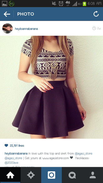 skirt tank top blouse top clothes aztec shirt black and white crop top t-shirt navy white crop tops black and white black short cute bag jewels shorts