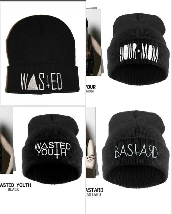 hat your mom wasted youth High waisted shorts black bastard