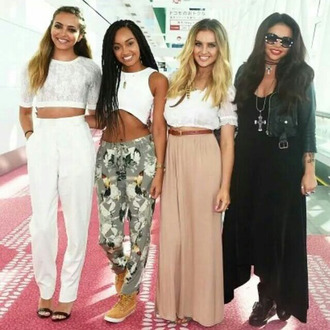 perrie edwards little mix maxi skirt summer outfits top red lime sunday