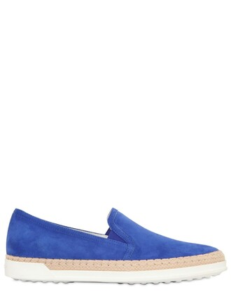 sneakers suede blue royal blue shoes