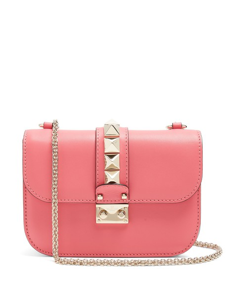 bag shoulder bag leather pink