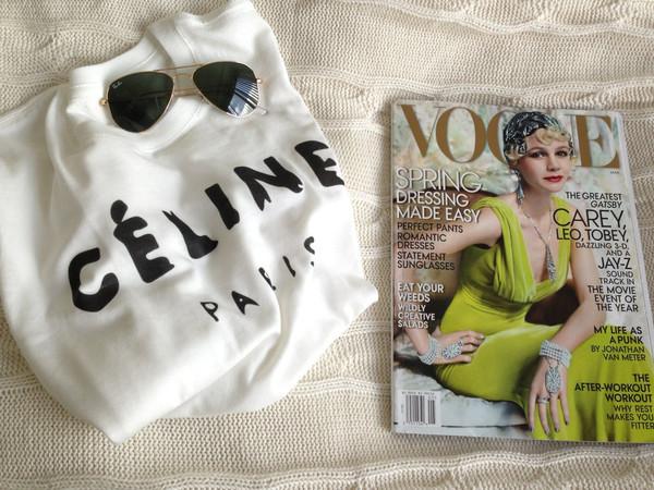 C*line White T-Shirt – Glamzelle
