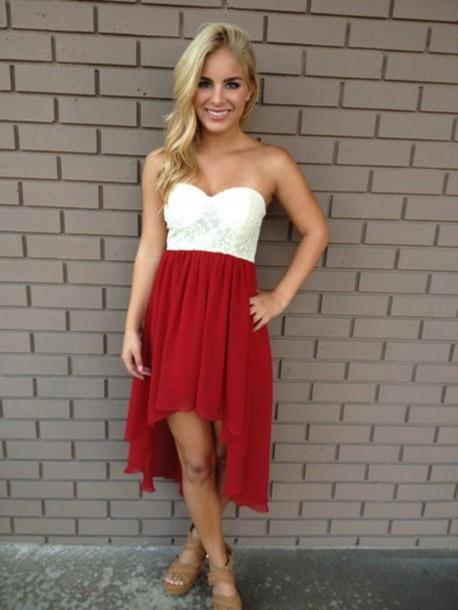 dress red dress lace dress cute