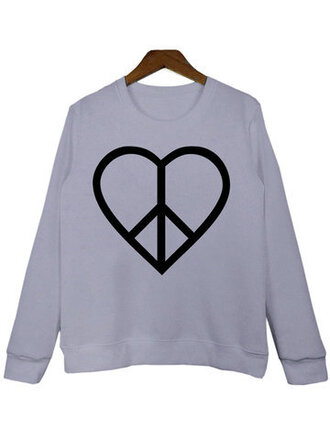 sweater grey heart casual fall outfits long sleeves winter outfits