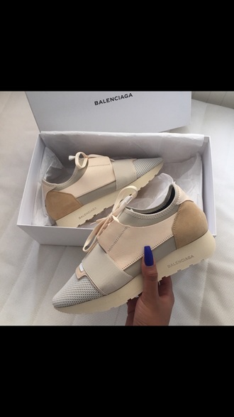 shoes balenciaga nude sneakers sneakers