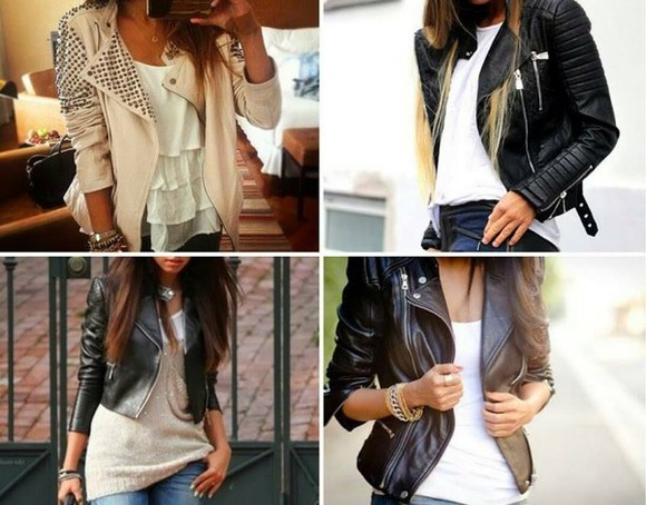 jacket jeans white jacket classy white hackers studs white t-shirt black jacket t-shirt