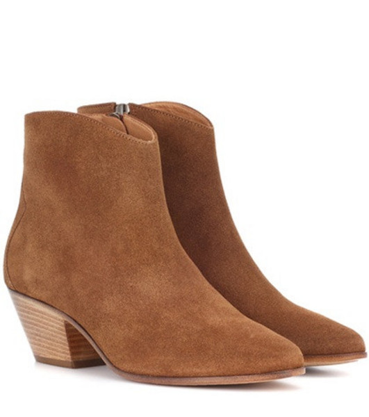 Isabel Marant Dacken suede ankle boots in brown