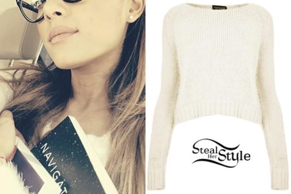 sweater jumper ariana grande topshop