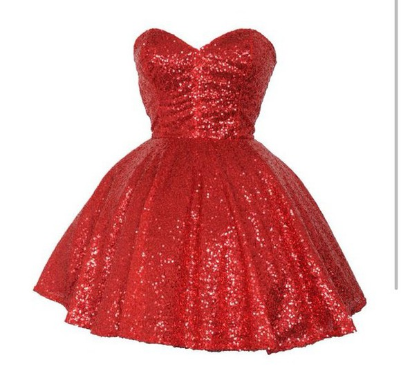 dress glitter prom dress red dress red red glitter short dress