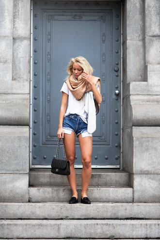 victoria tornegren blogger shoes shorts bag t-shirt scarf