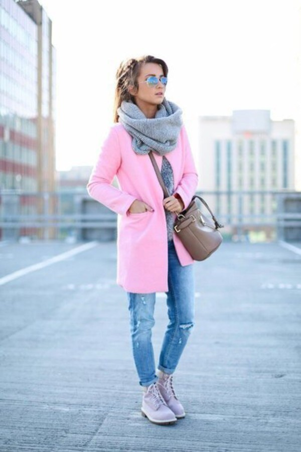 JOA Jackie of All Trades Oversized Pink Coat