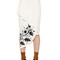 Printed cady pencil skirt