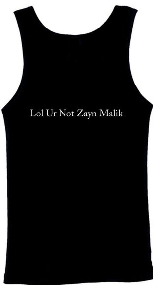 vest zyan malik lol ur not alex turner lol ur not harry sty lol ur not lol ur not,  love lol ur not matt healy lol ur not harry styles tank top tank top dress vest top tank top, black, white, ootd, #ootd, tank top, crop top