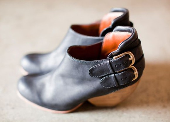 clogs leather boots